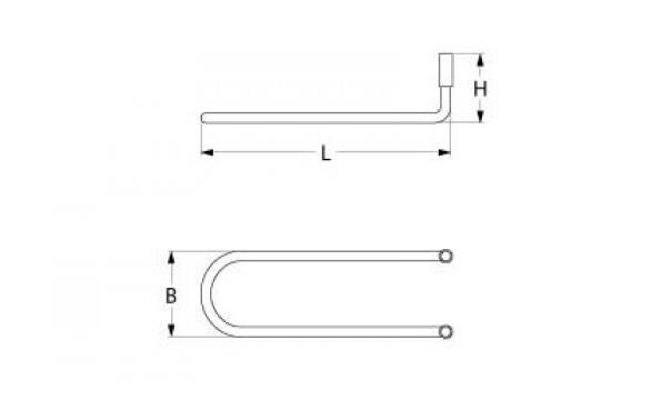 Rezistenta 450W, 230V, 380mmx37mmx100mm de la Kalva Solutions Srl