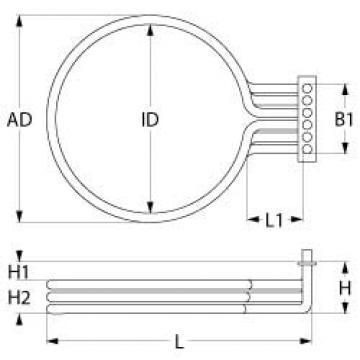 Rezistenta 7500 W, 230 V, 3 circuite incalzire 418143 de la Kalva Solutions Srl