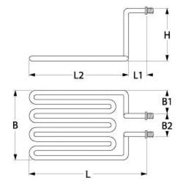 Rezistenta friteuza 3250W, 230V, 1 circuit incalzire de la Kalva Solutions Srl