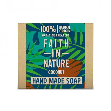 Sapun natural solid cu Cocos, Faith in Nature, 100 gr