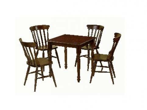Set masa + 4 scaune din lemn pentru bar / restaurant de la Mobirom