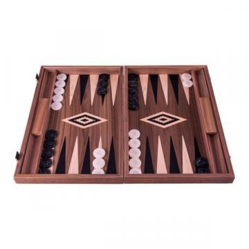 Set joc table / backgammon Walnut cu insertii negre de la Chess Events Srl