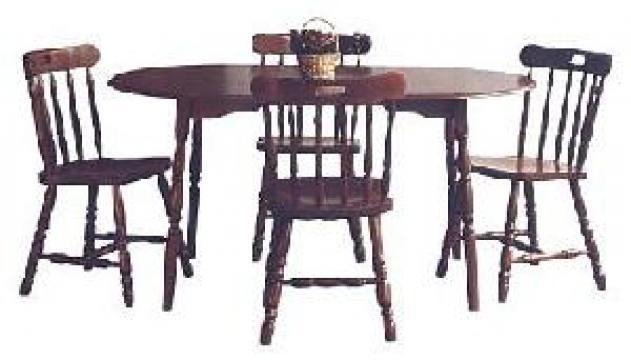 Set mobilier sufragerie masa 260 si 4 scaune din lemn GL1 de la Mobirom