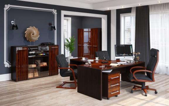 Set mobilier birou directorial Morris 1 de la Sembazuru Art Srl