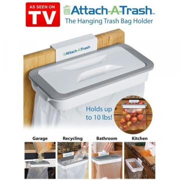 Suport cu capac pentru sac gunoi Attach-A-Trash de la Startreduceri Exclusive Online Srl - Magazin Online - Cadour