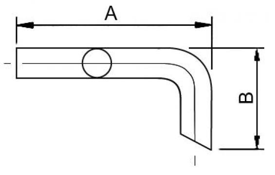 Teava de scurgere L=200 mm, 22 mm, pentru bain marie