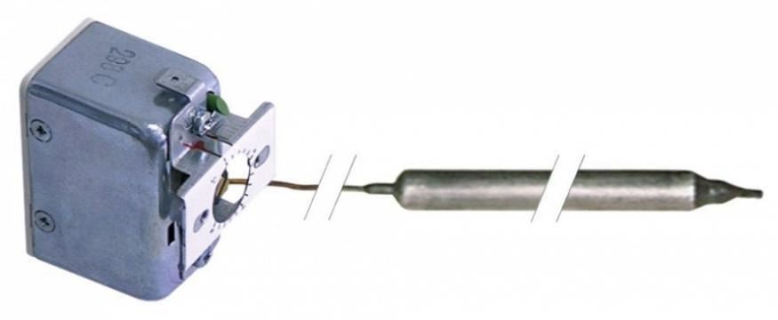 Termostat de siguranta 20-500C, 1 pol, 16A, bulb 8mmx155mm
