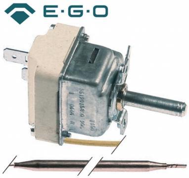 Termostat reglabil 30-90C, 1NO, 16A, bulb 6mmx130mm