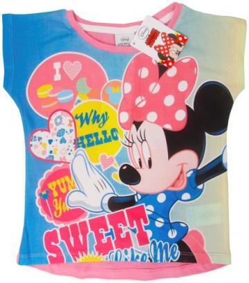Tricou bumbac, fete, Minnie Sweet, Disney, multicolor
