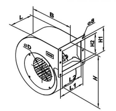 Ventilator centrifugal VCU 4E 200x102 de la Ventdepot Srl