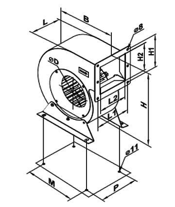 Ventilator centrifugal VCUN 315x143-4.0-4