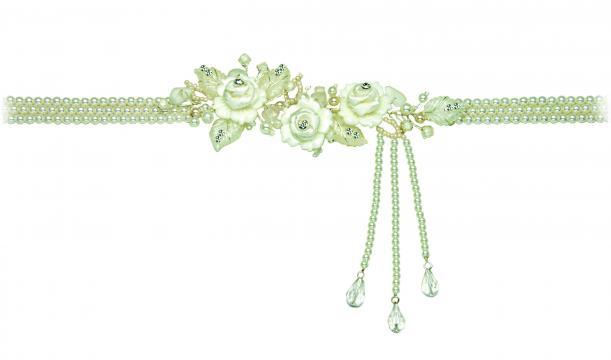 Colier cu perle si rasina acrilica de la Luxury Concepts Srl