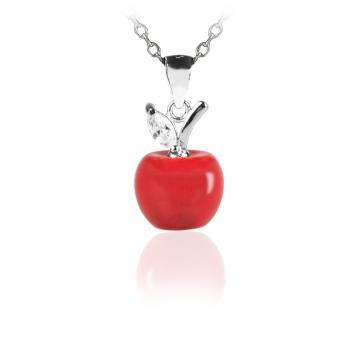Colier din argint 925 cu cristale Charming Apple