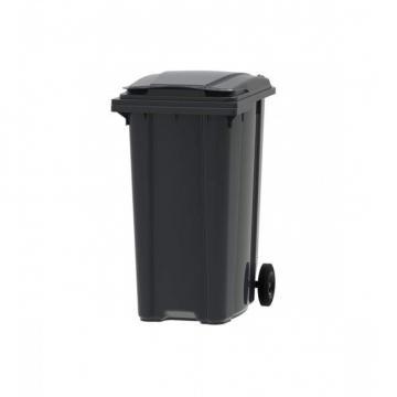 Container gunoi din plastic, 360 litri negru de la Sanito Distribution Srl