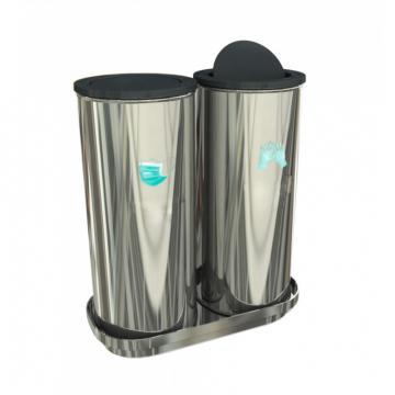 Cos de gunoi pentru masti si manusi, otel inoxidabil, 80 L de la Sanito Distribution Srl