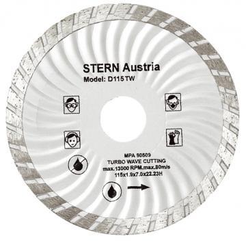 Disc diamantat taiere umeda si uscata Stern 115 mm de la Micul Gospodar