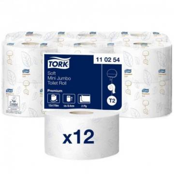 Hartie igienica Mini Jumbo Tork Premium, 2 straturi, 170m de la Sanito Distribution Srl