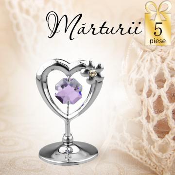 Marturii nunta Inimioara cu Swarovski 5buc. de la Luxury Concepts Srl