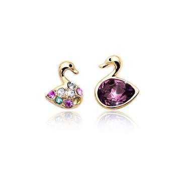 Cercei cu cristale Lady Swan de la Luxury Concepts Srl