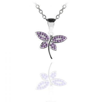 Martisor pandantiv din argint 925 Butterfly Embrace
