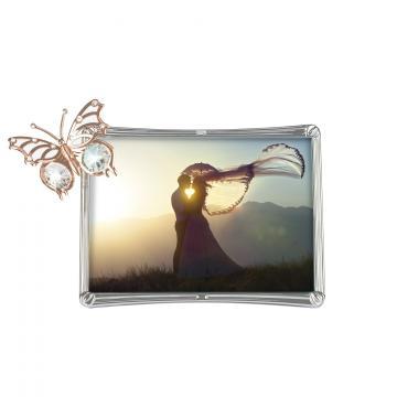 Rama foto aur roz cu fluturas Swarovski