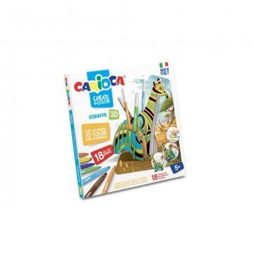 Set creativ Create Color Carioca Girafa 3D