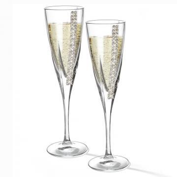 Set de 2 pahare de sampanie cu cristale de la Luxury Concepts Srl