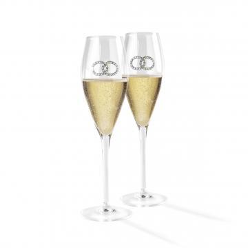 Set de pahare pentru sampanie Wedding by Chinelli de la Luxury Concepts Srl