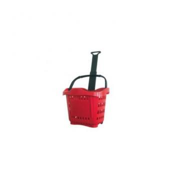 Cos cumparaturi roller din plastic 43 litri de la Sedona Alm