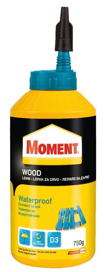 Adeziv pentru lemn Moment Woodwaterproof 750 gr de la Olint Com Srl