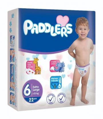 Scutece copii Paddlers, marime 6, 38 buc/set, X Large +15 kg de la Europe One Dream Trend Srl