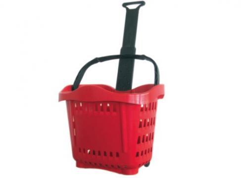 Cos cumparaturi - roller din plastic 43 litri de la Best Store Solutions Srl