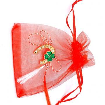 Martisor brosa potcovita in saculet (ABGS16-AY07) de la Eos Srl (www.martisoare-shop.ro)