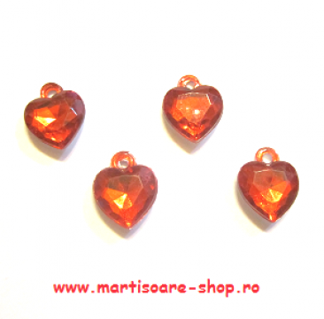 Martisoare inimioare (APP05)C15 - set 10 bucati de la Eos Srl (www.martisoare-shop.ro)