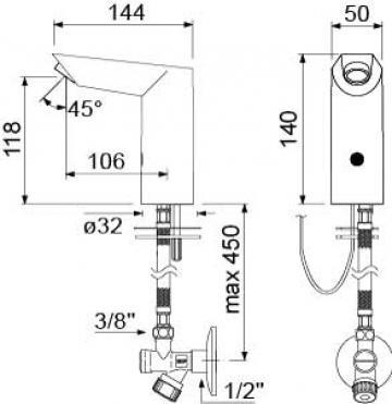 Baterie electronica pentru apa rece sau apa combinata 545567