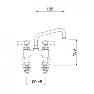 Baterie spalator bucatarie profesionala 549833