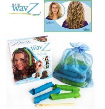Bigudiuri spiralate pentru ondulat parul Hair Wavz