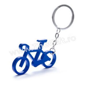 Breloc metalic in forma de bicicleta, cu desfacator
