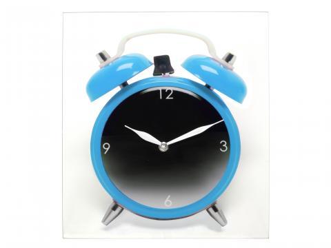 Ceas de perete Desteptator - Albastru