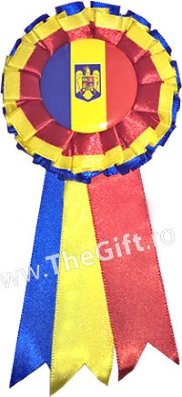 Cocarda tricolor Romania, cu stema de la Thegift.ro - Cadouri Online
