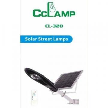 Corp de iluminat pentru exterior cu panou solar si proiector
