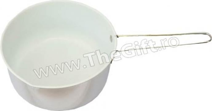 Cratita medie pentru lapte, placata cu ceramica