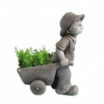 Ghiveci decorativ Strend Pro Boy, ceramica, 37x19x47 cm de la Viva Metal Decor Srl