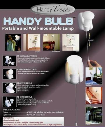 Bec cu intrerupator fara fir Handy Bulb
