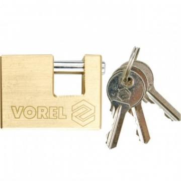 Lacat alama, dreptunghiular, Vorel 75 mm, 3 chei de la Viva Metal Decor Srl