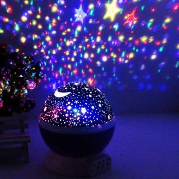 Lampa de veghe cu proiector rotativ stele si luna de la Preturi Rezonabile