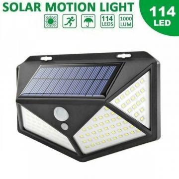 Lampa solara de perete cu senzor de lumina si miscare de la Www.oferteshop.ro - Cadouri Online