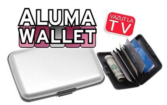 Portofel fabricat din aluminiu Aluma Wallet de la Www.oferteshop.ro - Cadouri Online