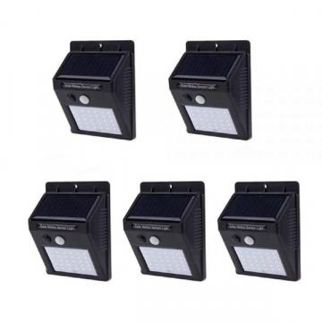 Set 5 lampi solare cu 30 LED-uri SMD, senzor de miscare de la Www.oferteshop.ro - Cadouri Online