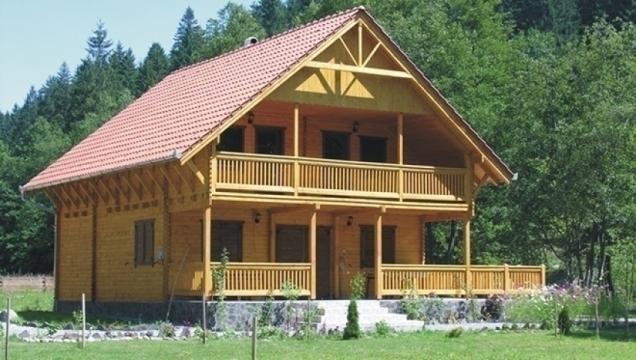 Casuta camping din lemn fara terasa si pardoseala Sovata de la Korondi Arcso Srl